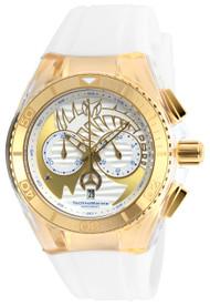 Technomarine Unisex TM-115002 Cruise Dream Quartz Chronograph Gold, Antique Silver Dial Watch