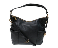 Michael Kors Large Convertible Shoulder Handbag Crossbody Pebbled Leather Black 35S7GA8L3L-001