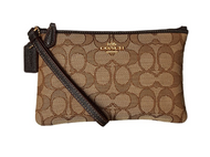 COACH Women's Signature Small Wristlet Li/Khaki/Brown One Size 28326B-LIC7C