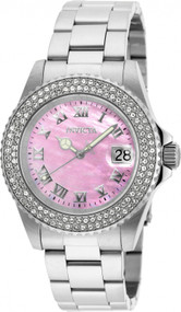 Invicta Lady 20363 Sea Base Quartz 3 Hand Pink Dial Watch