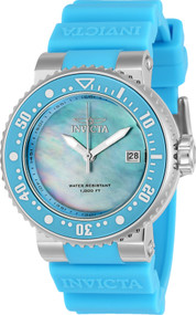 Invicta Lady 22670 Pro Diver Quartz 3 Hand Mother of Pearl Dial Watch