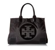 Tory Burch Womens Black Nylon Patent Leather Ella Tote BAG 45207-001