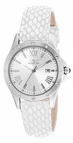 Invicta Angel Silver Dial Beige Leather Ladies Watch 14317 [Watch] Invicta