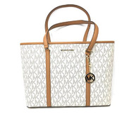 Michael Kors Large Sady Carryall Shoulder bag (Vanilla Pvc) 35T7GD4T7B-149