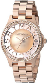 Marc by Marc Jacobs Women's MBM3339 Skeleton Rose Gold-Tone Stainless Steel Watch with Link Bracelet