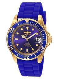 Invicta Men's 'Pro Diver' Automatic Gold-Tone and Silicone Casual Watch, Color:Blue (Model: 23682) …