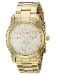 Invicta Angel Lady 38mm Stainless Steel Gold Dial VH68 Quartz Watch …