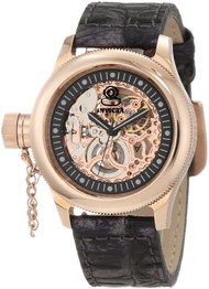 Invicta Women's 10343 Russian Diver Mechanical Rose Tone Skeleton Dial Watch