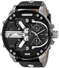 Diesel Men's DZ7313 Mr Daddy 2.0 Analog Display Analog Quartz Black Watch