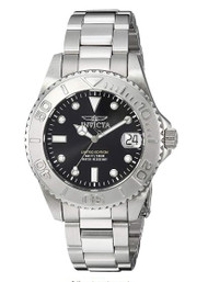 Invicta Women's 'Pro Diver' Quartz Stainless Steel Diving Watch, Color Silver-Toned (Model: 24631)