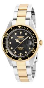 Invicta  Men's 17049 Pro Diver Quartz 3 Hand Black Dial Watch
