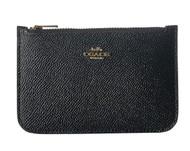 COACH Women's Zip Card Case in Crossgrain Leather Li/Black One Size 29688-LIBLK