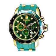 Invicta  Men's 18196 Pro Diver Quartz Chronograph Green Dial Watch