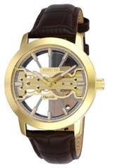 Invicta  Men's 25266 Objet D Art Mechanical 2 Hand Grey, Gold Dial Watch