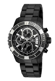 Invicta Men's 'Pro Diver' Quartz Stainless Steel Casual Watch, Color:Black (Model: 22417) …