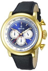Invicta  Men's 13057 Vintage Quartz 3 Hand Blue Dial Watch