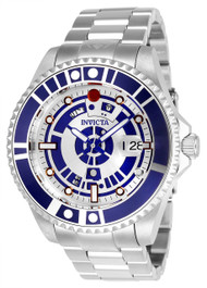 Invicta Men's 26164 Star Wars Automatic 3 Hand Silver, Blue Dial Watch