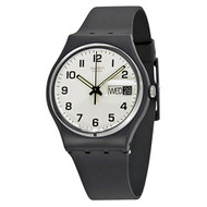 Swatch GB743 once again white dial rubber strap unisex watch NEW