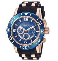 Invicta Men's 'Pro Diver' Quartz Stainless Steel and Polyurethane Diving Watch, Color:Two Tone (Model: 23713) …
