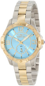 Invicta Women's 10224 Angel Diamond Accented Blue Dial Two Tone Stainless Steel Watch