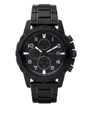 Fossil Men's Dean FS4646 Black Stainless-Steel Analog Quartz Watch [Watch] Fo...