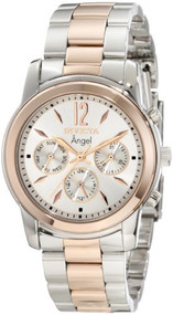 Invicta Women's 11736 Angel Silver Dial Two Tone Stainless Steel Watch …