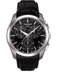 Tissot Men's Couturier T035.617.16.051.00 Black Leather Swiss Quartz Watch wi...