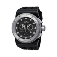 Invicta 12289 Men's Akula Sport Chrono Black Dial Black Silicone Band Watch