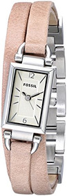 Fossil Delaney Three Hand Leather Watch - Sand Jr1370