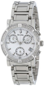 Bulova Women's 96R19 Diamond Chronograph Watch [Watch] Bulova