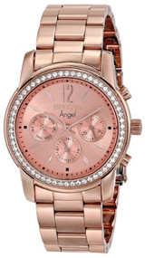 Invicta Women's 11774 Angel Rose Tone Dial 18k Rose Gold Ion-Plated Stainless...