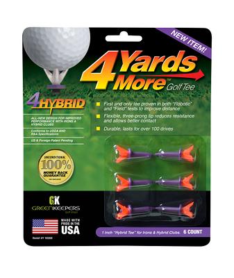 4 Yards More - 4Hybrid Golf Tees (6 Pack)