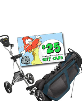 FREE Gift Card w/ Select Bag Or Cart Purchase at Rock Bottom Golf!