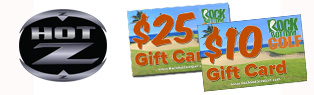 FREE $25 Gift Card w/ Select Hot-Z Bag or Cart Purchase at Rock Bottom Golf!