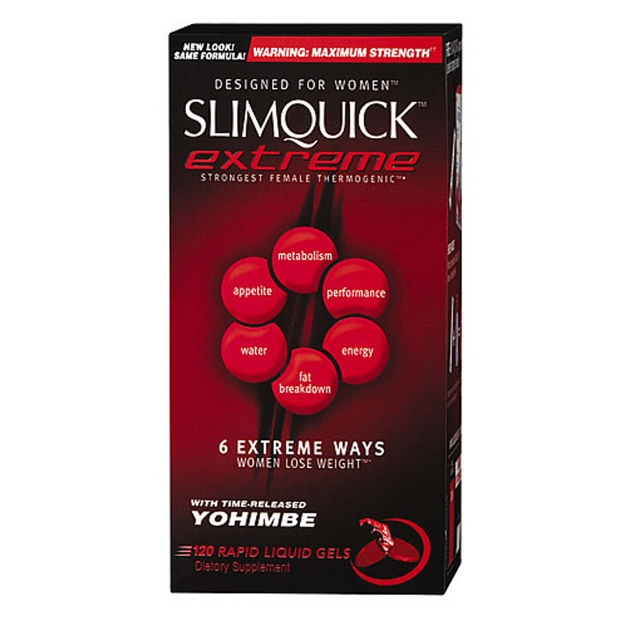 SlimQuick Extreme Diet Pills for Women 120ct