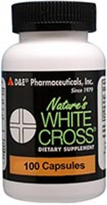 Nature's White Cross 100ct D&E Pharmaceuticals