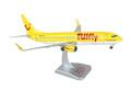 HGTF03 Hogan Tulfly 737-800 1/200 W/GEAR REG#D-ATUG Yellow Model Airplane