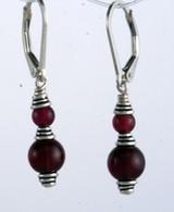 Classic double wrapped garnet earrings