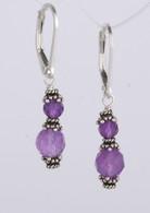 Double wrapped amethyst earrings