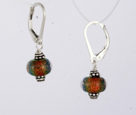 Mini orange dichroic lampworked spheres