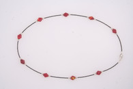 Red Rhomboid and 19th Century seed bead necklace