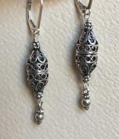 Turkish cylindrical lattice spicebox  earrings