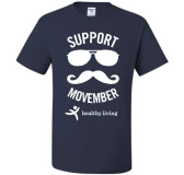 Movember/Healthy Living T-shirt-Size LARGE