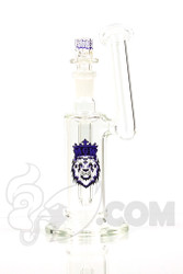 Manifest Glassworks - Side Car Bubbler with Purple Lion