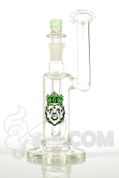Manifest Glassworks - Side Car Bubbler with UV Green Lion