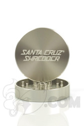 Santa Cruz Shredder - 2 Piece Large Silver Grinder