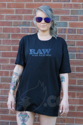 RAW - Black on Black Mens T-Shirt