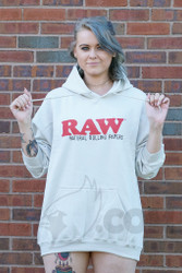 RAW - Tan Pullover Hooded Sweatshirt Front
