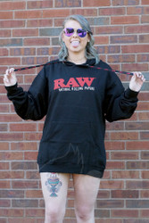 RAW - Black Pullover Poker Hoodie Front
