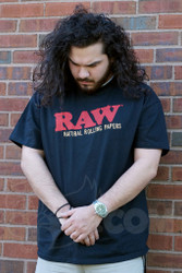 RAW - Black Mens T-Shirt Front